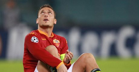Totti: Injured