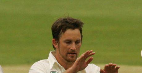 Bond celebrates the wicket of Prince