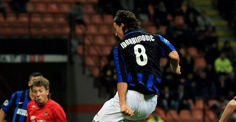 Ibrahmovic: Grabs the first for Inter