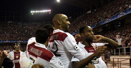 Sevilla celebrate Keita's equaliser
