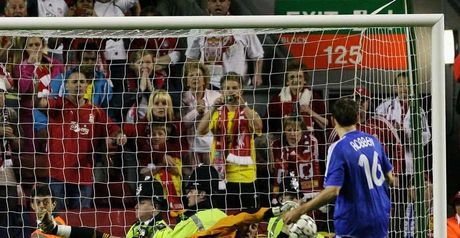 Jose Reina saves from Arjen Robben in last year's semi-final