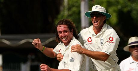 Sidebottom is congratulated by his skipper
