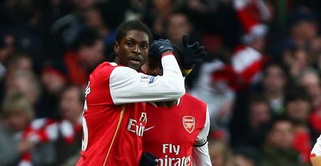 Adebayor celebrates his first strike