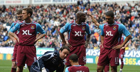 Crocked: Anton Ferdinand's second minute injury did not help West Ham's cause