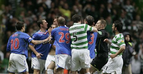 Rangers and Celtic clash at the final whistle