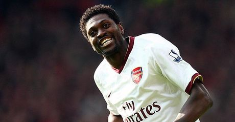 Adebayor: Happy at Arsenal