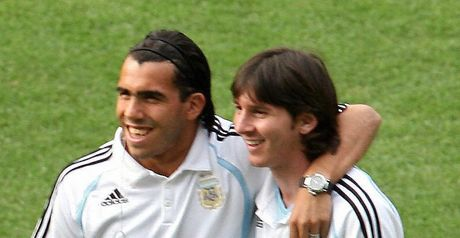 Tevez: Included in a Copa America squad that had looked set to be built around Messi
