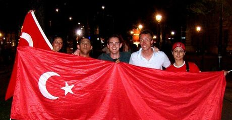 Turkey fans: Ecstatic in Vienna