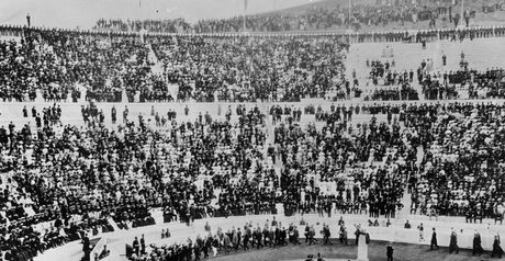 A scene from the opening ceremony.