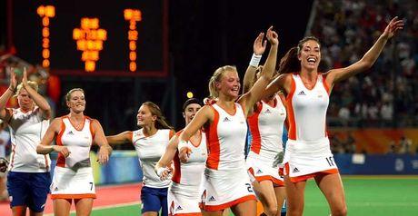 The Netherlands celebrate victory