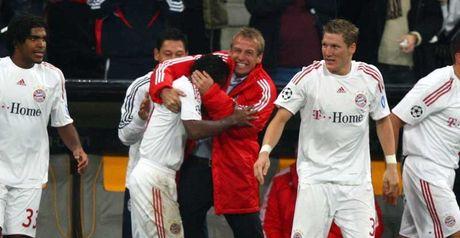 Klinsmann: Celebrates Ze Roberto equaliser