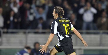 Del Piero celebrates after scoring Juve's opener