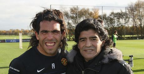 Tevez and Maradona