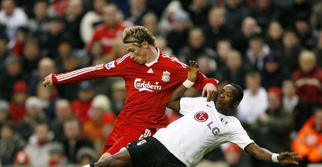 Torres and Pantsil clash at Anfield