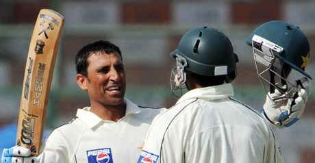 Younus celebrates his hundred