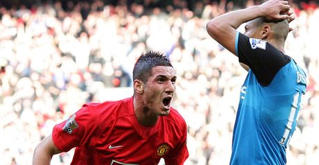 Macheda celebrates winner