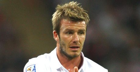 Beckham: Has seen his England career extended