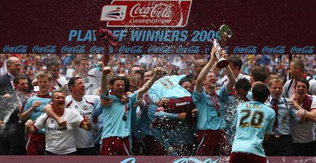 Victory: Clarets celebrate