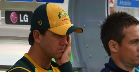 Down and out: Ricky Ponting reflects on Australia's defeat to Sri Lanka