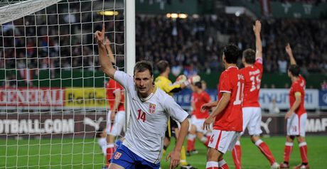 Jovanovic: On target for Serbia in routine win