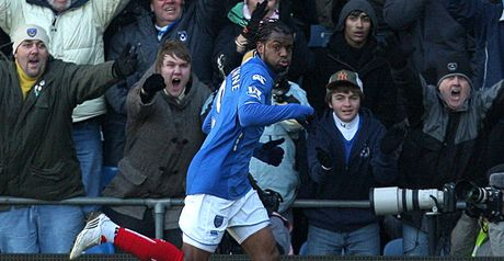 Piquionne celebrates scoring Pompey's second