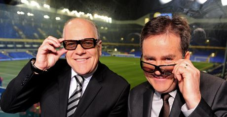 Andy Gray: shows off his 3D glasses