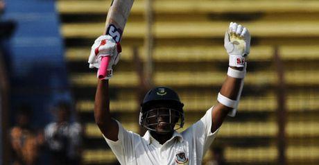 Raqibul: scored century against England in tour match