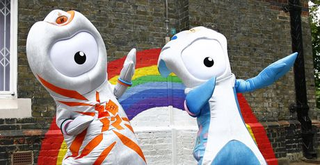 2012 mascots: Wenlock (left) and Mandeville