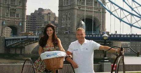 Kelly Brook and Sir Chris Hoy launch Sky Ride 2010