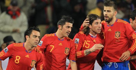 Spain celebrate Villa&#39;s opener