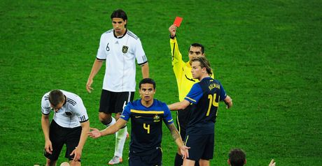 Cahill: Shown the red card