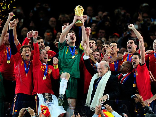 Spain are crowned World Cup winners.