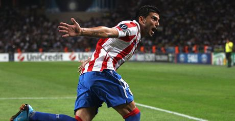 Reyes: Was among the goals as 2010 winners Atletico Madrid reached the play-off round