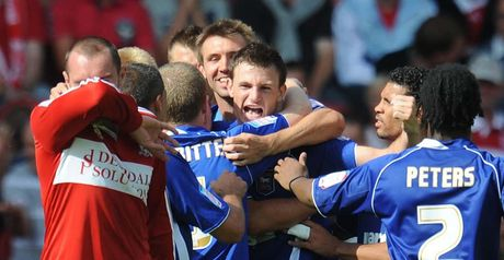 Ipswich celebrate at the Riverside