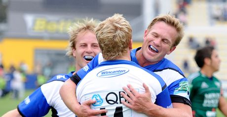 All smiles: Bath win in Italy
