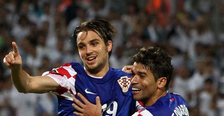 Kranjcar celebrates with Eduardo