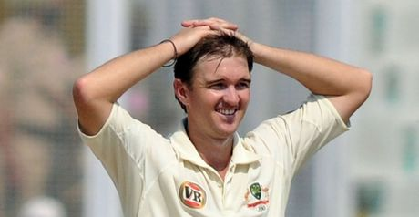 Hauritz: struggled in India