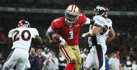 Celebration: Troy Smith engineered a comeback for the 49ers