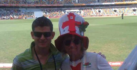 A big moment as I met Barmy Army ring leader 'Jimmy'
