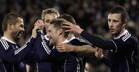 Scotland celebrate Commons' goal