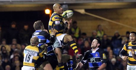 High point: Varndell's 33rd-minute effort was the only try of the match