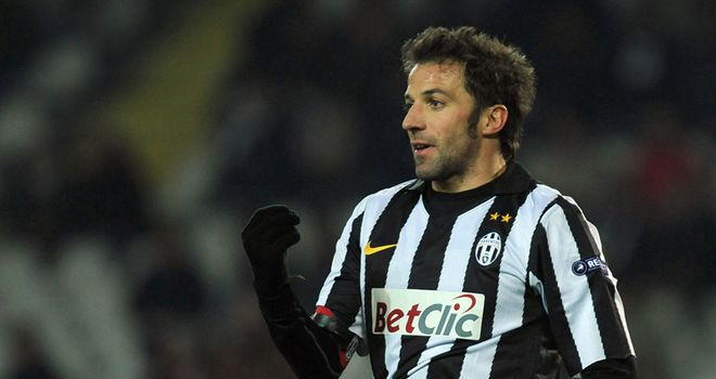 Del Piero: Approaching the end of his career, but is yet to decide when he will hang up his boots