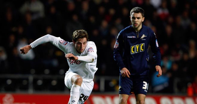 Allen: In action for Swans at Liberty Stadium