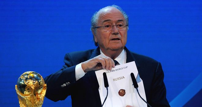 Blatter announces Russia as winners