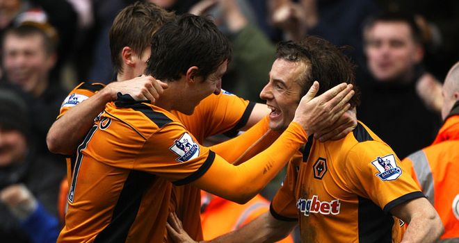 Hunt: Scored 50th league goal and second in Wolves colours