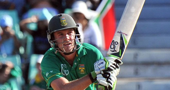 De Villiers: won by five maximums