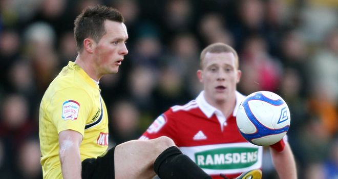 Harrad: Late winner for Burton