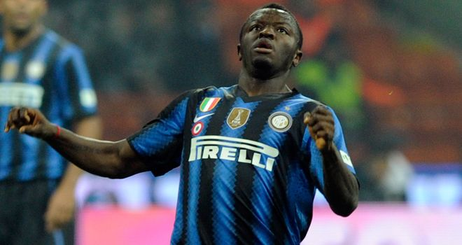 Sulley Muntari: Considering a move away from Inter, according to his agent