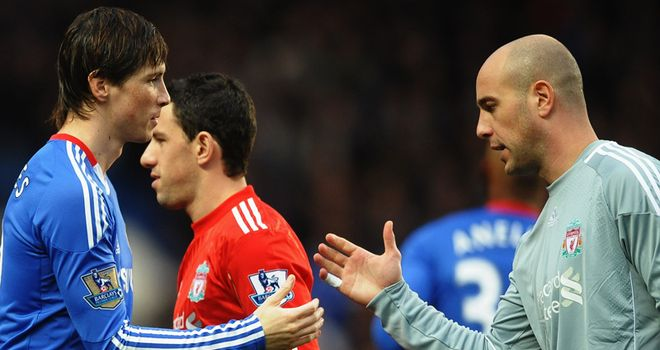 Fernando Torres (left) and Pepe Reina will meet again in the FA Cup final