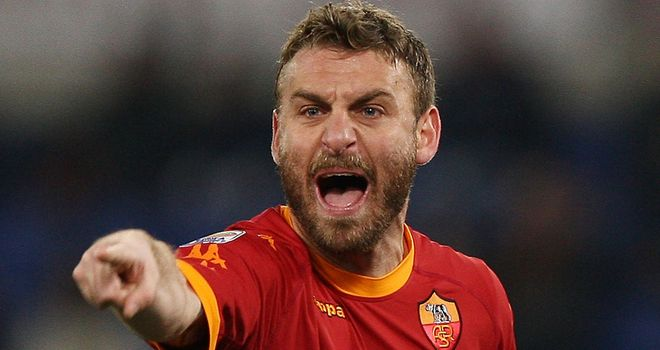 Daniele De Rossi: The midfield maestro had equalised for Roma before the game was abandoned